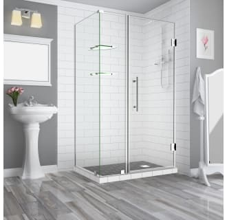 Aston Sen962ez Ss 402638 10 Stainless Steel Bromley Gs 72 High X 40 Wide X 38 Deep Hinged Frameless Shower Enclosure With 26 Door Width And Clear Glass