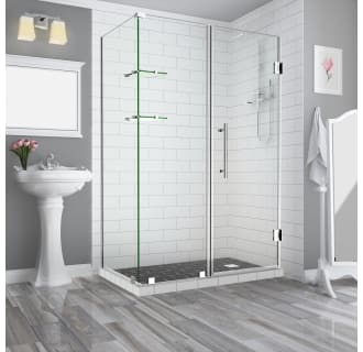 Aston Sen962ez Ss 583632 10 Stainless Steel Bromley Gs 72 High X 58 Wide X 32 Deep Hinged Frameless Shower Enclosure With 36 Door Width And Clear Glass