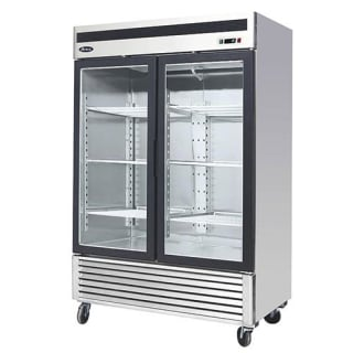 Bottom Mount Two Door Glass Refrigerator