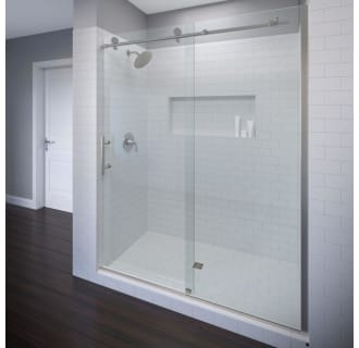 Width Basco Sopora 27.75-29.5 in Silver Finish AquaGlideXP Clear Glass Pivot Shower Door