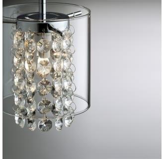 Bazz Lighting Pr3811cb Chrome With Glass Beads Glam Series Single Light Mini Pendant Finished