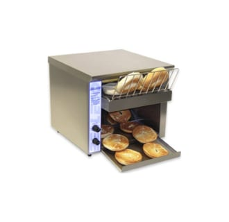 Commercial 500 Slice per Hour Bagel Conveyor Toaster with 1 1/2 Opening- 208V