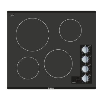 23 Inch Wide Built-In Electric Cooktop with 2,200W Power Element