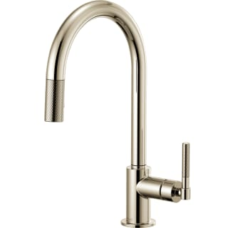 Brizo 63043lf Gl Luxe Gold Litze Single Handle Arc Spout Pull Down Kitchen Faucet With Knurled Includes Lifetime Warranty
