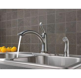 delta 4453-ar-dst arctic stainless linden kitchen faucet