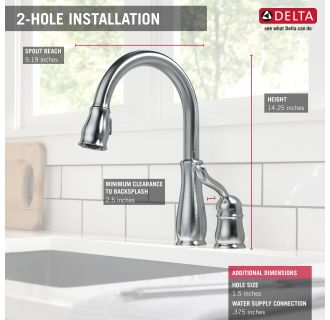 Delta 978 Ar Dst Arctic Stainless Leland Pull Down Kitchen