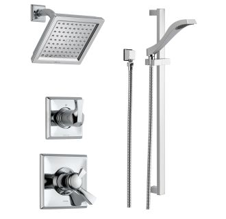 Delta DSS Dryden 1701SS Brilliance Stainless Monitor 17 Series Dual  Function Pressure Balanced Shower System With Integrated Volume Control,  Shower Head, ...