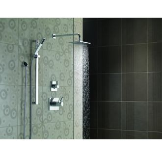 delta vero monitor 17 series shower system ch chrome with diverter trim shower head slide bar hand shower and wall supply - Delta Shower Doors