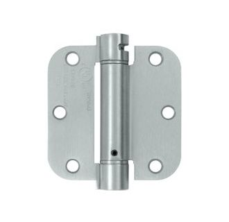 Deltana DSH35R515A Single Action Steel 3 1//2-Inch x 3 1//2-Inch x 5//8-Inch Spring Hinge