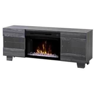 Max 62 Inch Wide Media Console with 5118 BTU Free Standing Electric Fireplace and Acrylic Ice Burner Assembly