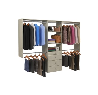 easy track ok7272 white 4 to 8 foot wide premium closet system kit with drawers. Black Bedroom Furniture Sets. Home Design Ideas