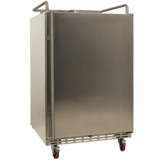 24 Inch Wide Outdoor Kegerator Conversion Refrigerator with Forced Air Refrigeration