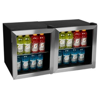 124 Can Side-by-Side Beverage Coolers with Extreme Cool
