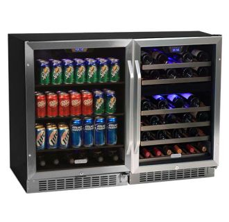 48 Inch Wide 46 Bottle 148 Can Side-by-Side Wine and Beverage Center