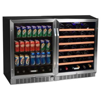 48 Inch Wide 53 Bottle 148 Can Side-by-Side Wine and Beverage Center