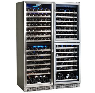 47 Inch Wide 310 Bottle Built-In Wine Cooler with 4 Distinct Cooling Zones