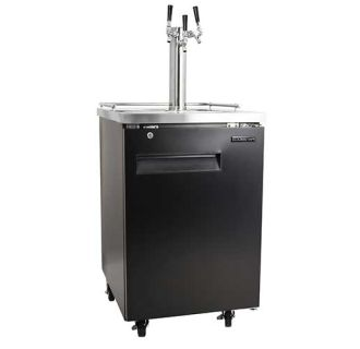 24 Inch Wide Triple Tap Kegerator with Included Dispenser Components