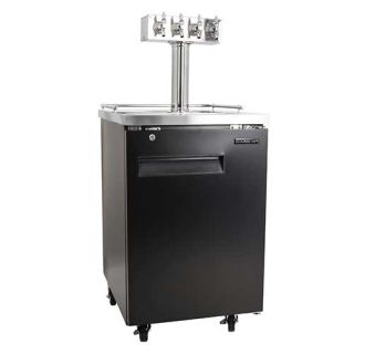 24 Inch Wide Quadruple Tap Kegerator with Built-In Drip Tray