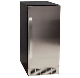 15 Inch Wide 25 Lbs. Capacity Built-In Ice Maker with 45 Lbs. Daily Ice Production - Pump Included