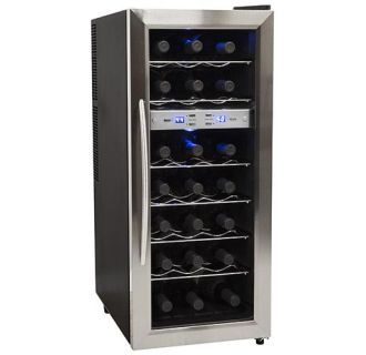 13 Inch Wide 21 Bottle Wine Cooler with Dual Cooling Zones