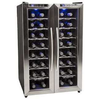 Scratch and Dent 21 Inch Wide 32 Bottle Wine Cooler with Dual Cooling Zones