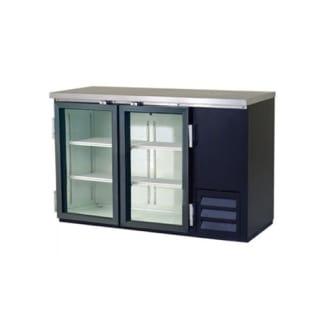 15 cu. ft. Glass Two Door Back Bar Cooler