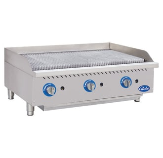 36 Gas Charbroiler with Cast Iron Radiants