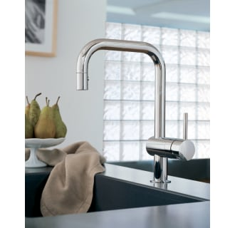 Grohe 32319000 Starlight Chrome Minta Pull Down Kitchen Faucet With  2 Function Locking Sprayer   FaucetDirect.com