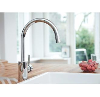 Grohe 32665001 Starlight Chrome Concetto Pull Down High Arc Kitchen Faucet With Dual Function