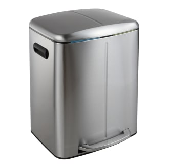 Huis Happimess Hpm1006a Connor 16-3/4 Inch Wide Stainless Steel 13 Gallon Trash With