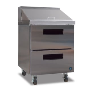 Sandwich Top Prep Table Refrigerator with Drawers
