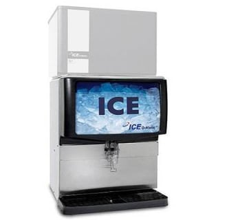 250 Lbs, 30 Ice Dispenser - Polyethylene