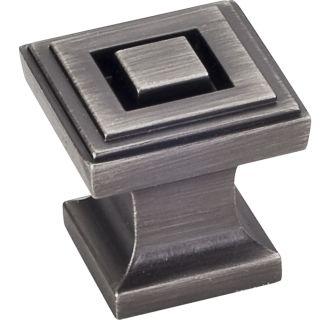 Jeffrey Alexander 585sn Satin Nickel Delmar 1 Inch Square Cabinet