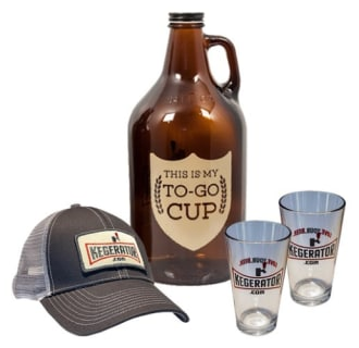 My To Go Cup Growler Hat Pint GlaGift Set