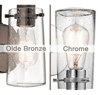 "Kichler Braelyn 45457OZ Olde Bronze 1-Light 9-1//2/"" High Wall Sconce"