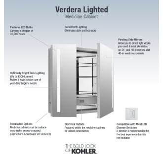 Kohler K 99009 Tl Na N A Verdera 30 Quot X 34 Quot Lighted