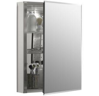 Kohler K Cb Clc2026fs Silver Aluminum 20 Quot X 26 Quot Single Door Reversible Hinge Frameless Mirrored