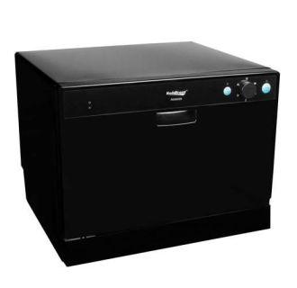 22 Inch Wide 6 Place Setting Countertop Dishwasher with High Heat Dishwashing