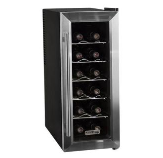 10 Inch Wide 12 Bottle Wine Cooler with Slim Fit and Thermoelectric Cooling