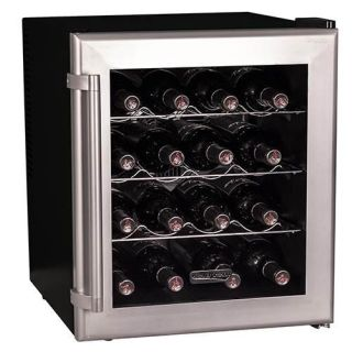 17 Inch Wide 16 Bottle Wine Cooler with Thermoelectric Cooling