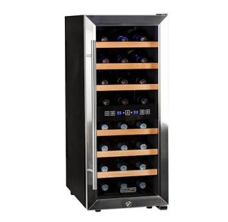 14 Inch Wide 24 Bottle Wine Cooler with Dual Cooling Zones