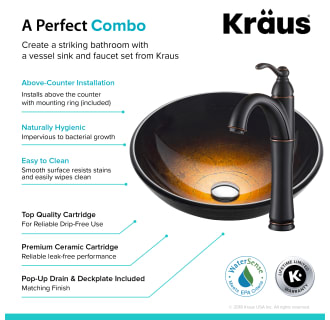 Kraus C Gv 580 12mm 1005orb Oil Rubbed Bronze Bathroom Combo 16 1 2 Quot Copper Illusion Glass