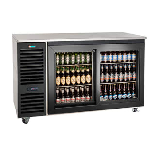60 Stainless Steel Sliding Door Backbar Cooler