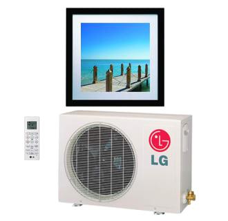 11200 BTU Cooling/13300 BTU Heating 208/230 Volt Single Zone Energy Star Mini Split Condenser with 1 Wall Unit and Art Frame Wall Unit