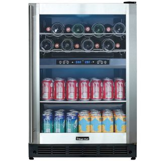 24 Inch Wide 5.3 Cu. Ft. Dual Zone Wine and Beverage Cooler