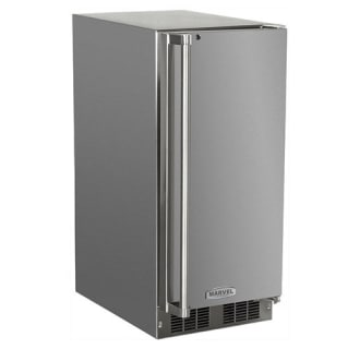 "15"" Stainless Steel Ice Machine with 15 lbs. Storage and Self Closing Door"