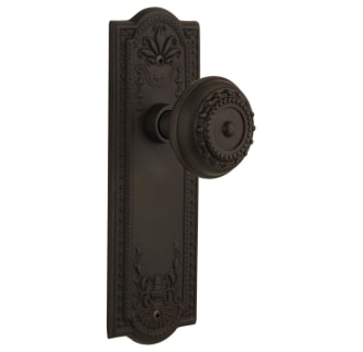 Nostalgic Warehouse 716667 Oil Rubbed Bronze Meadows Solid Brass Privacy Door Knob Set With 2 3 4 Backset Faucetdirect Com