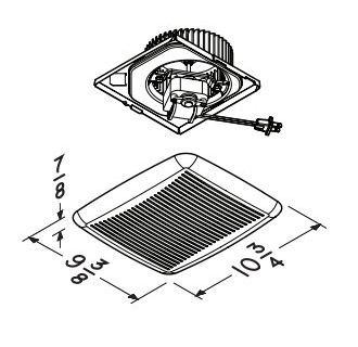 NuTone 690NT White 60 CFM 3.0 Sone Upgrade Kit for Select ...