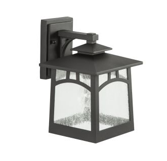 """Textured Black Carytown 12"""" Tall Single Light Outdoor Wall Sconce"""