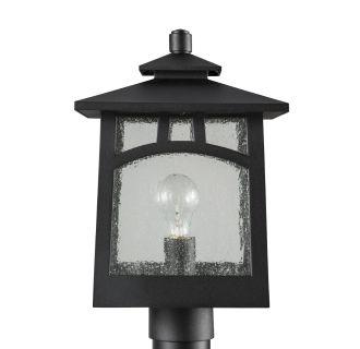 "Textured Black Carytown 16"" Tall Single Light Outdoor Post Light"